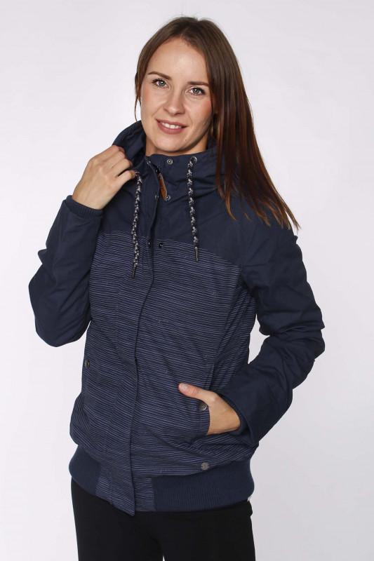 """MAZINE Damen Winterjacke - """"Chelsey Jacket B navy/stripes"""""""