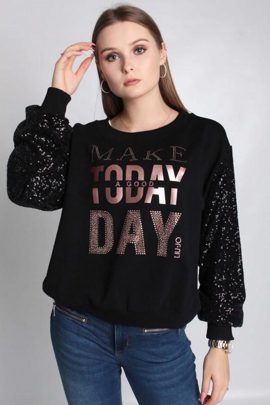 """LIU JO Damen Sweatshirt - """"SP.FELPA CHIUSA NERO"""""""