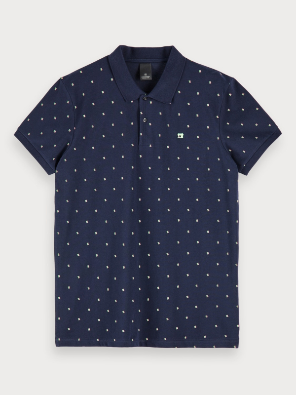 "Scotch & Soda Herren Poloshirt - ""Classic pique polo mini allove"""