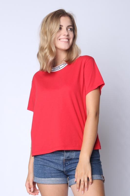 "LEVI'S Damen T-Shirt - ""Varsity Tee lychee red"""