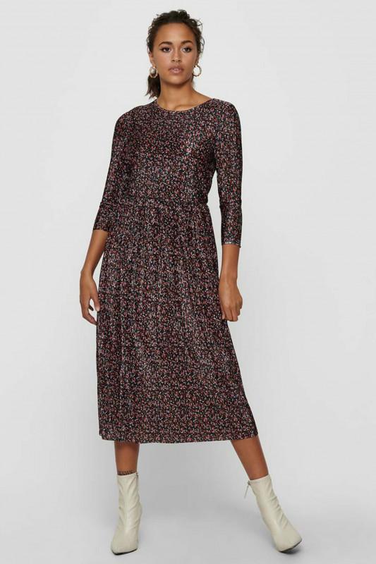 "ONLY Damen Kleid - ""Lena 3/4 Plisse Dress black so"""