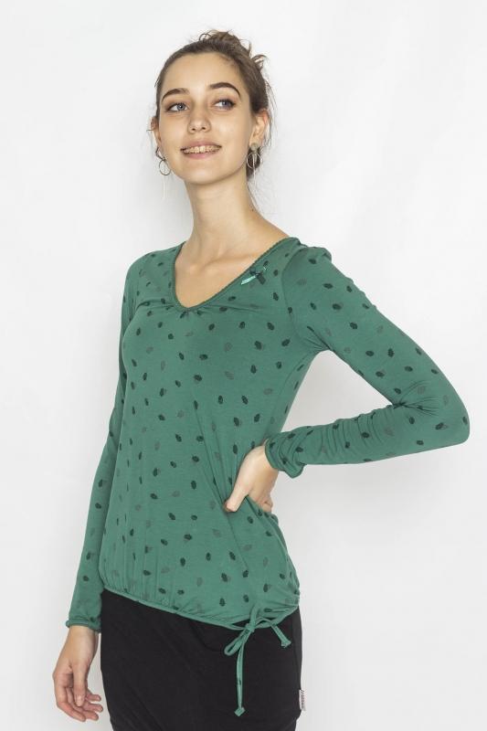 "STRANGE Damen Longsleeve - ""ILI 3 LS pine green / acorn"""