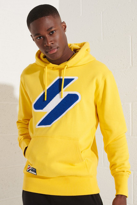 "SUPERDRY Herren Sweatshirt - ""CODE LOGO CHE HOOD nautical yellow"""