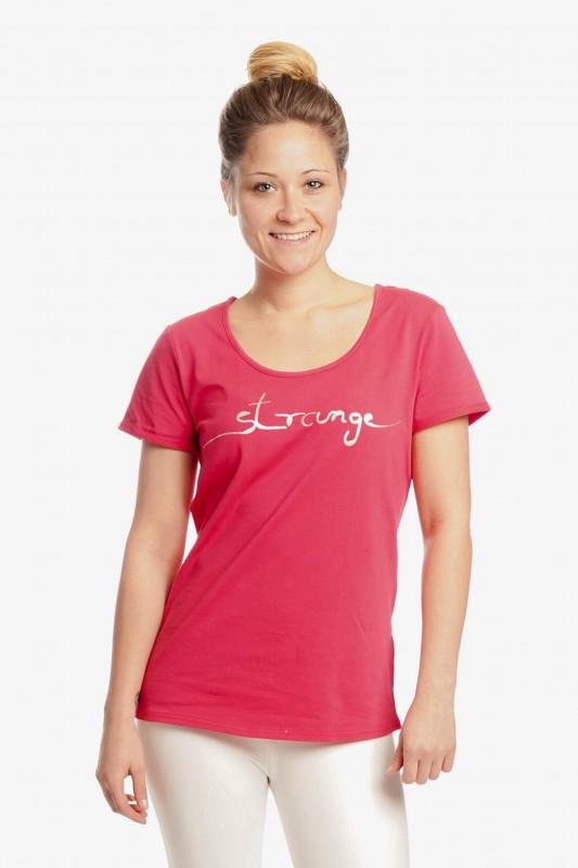 """STRANGE Damen T-Shirt - """"JULIANE magenta / silver"""""""