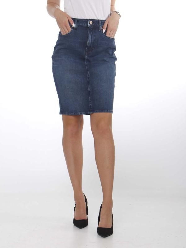 "Tommy Hilfiger Damen Jeansrock - ""High Waist Denim Skirt dynamic"""