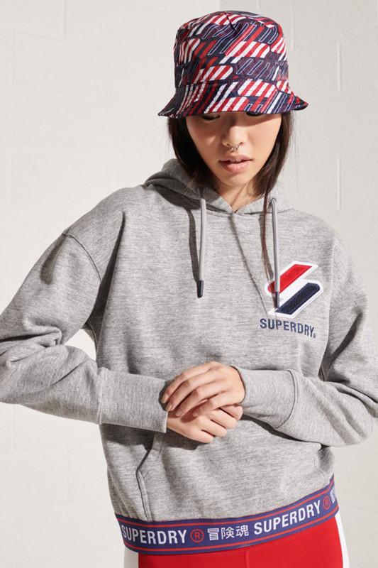 "Superdry Damen Sweatshirt ""SPORTSTYLE CHINELLE HOOD GREY"""