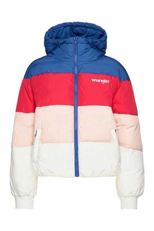 """Wrangler Damen Winterjacke """"Rainbow Puffer Jacket blue"""""""