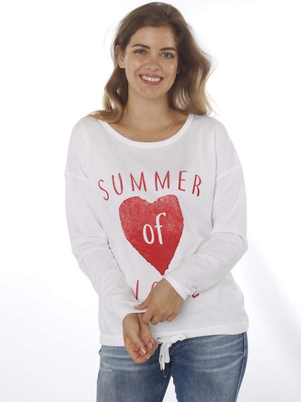 """Grace Damen Pullover - """"Summer of Love white"""""""