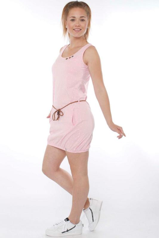 "STRANGE Damen Kleid - ""LORELLA pearl pink / white leafs"""