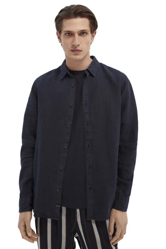 """SCOTCH & SODA Herren Hemd - """"REG FIT- Classic Linen Shirt"""""""