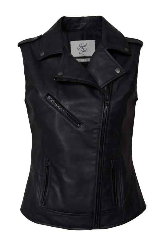 "PETROL Damen Weste - ""Waistcoat leather vintage look"""