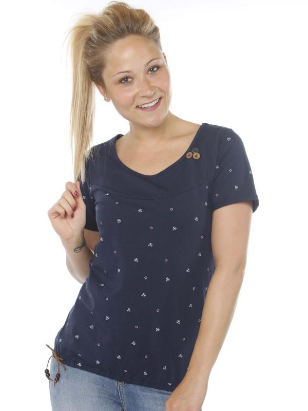 "STRANGE Damen T-Shirt - ""IRINA navy / ships"""