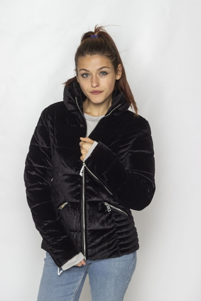 "GUESS Damen Jacke - ""Teoma Samt Jacket black"""