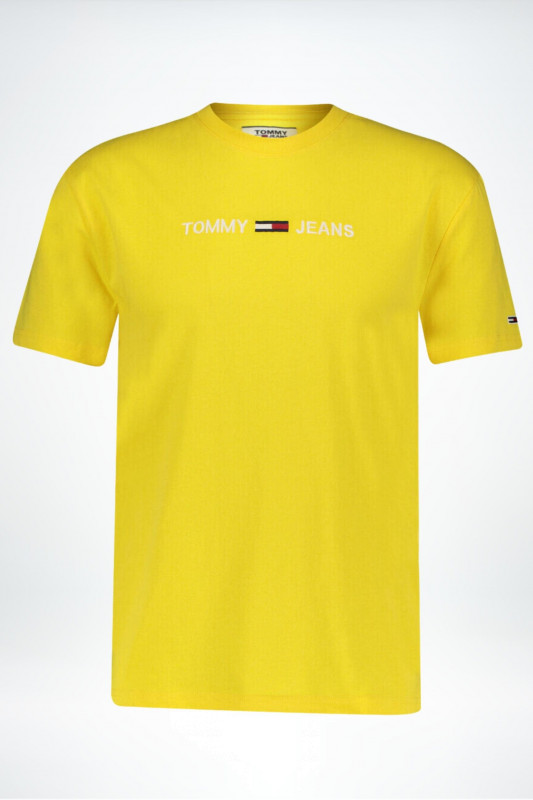 "TOMMY HILFIGER Herren T-Shirt - ""Straight logo tee star fruit yellow"""