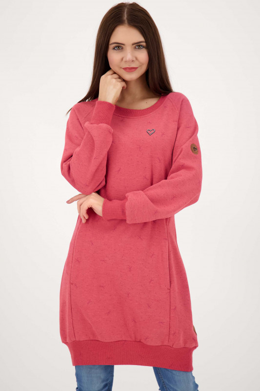 "ALIFE AND KICKIN Damen Kleid ""DeliaAK Sweatdress cranberry"""