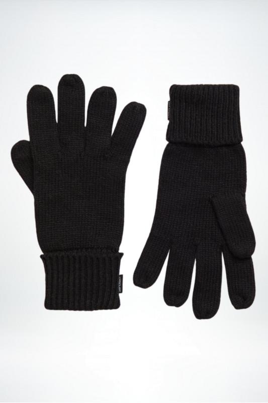 """Superdry Damen Handschuhe - """"Heritage Ribbed Gloves black"""""""