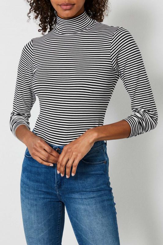 "PETROL Damen Longsleeve - ""T-shirt ls with collar smokey"""