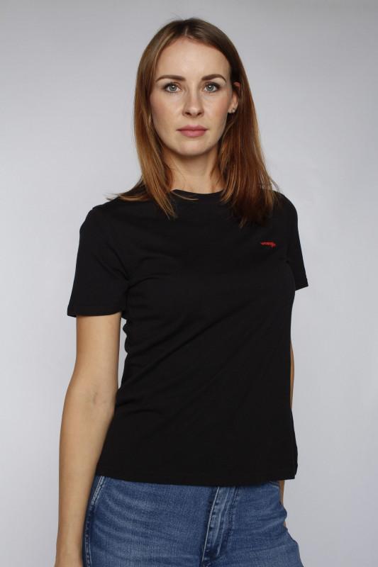"Wrangler Damen T-Shirt ""Sign off Tee black"""