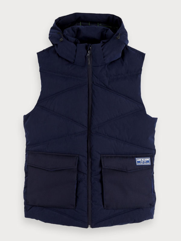 "Scotch & Soda Herren Weste - ""Bodywarmer with detachable hoo"""