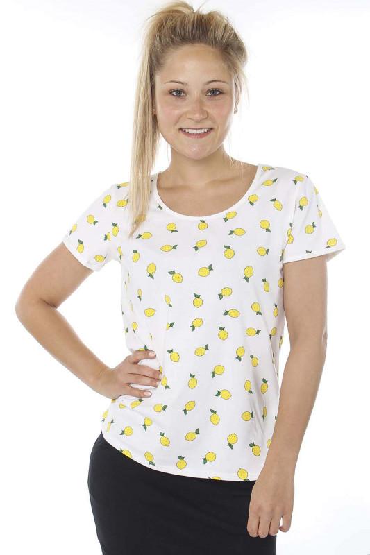 """STRANGE Damen T-Shirt - """"JULIANE white & lemons"""""""