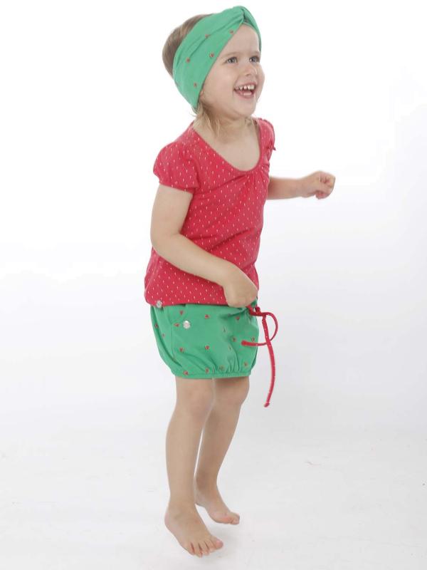 "STRANGE Kinder T-Shirt - ""Kids-Ili ss magenta/ dots"""