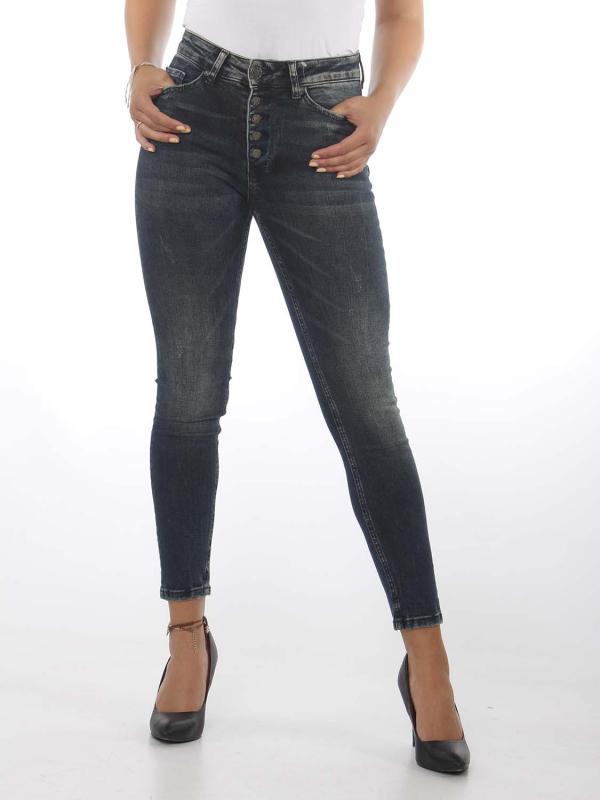 "Zhrill Damen Jeans - ""Leona Button Blue"""