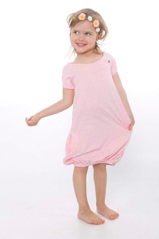 "STRANGE Kinder Kleid - ""Kids SINDY pearl pink / white leafs"""