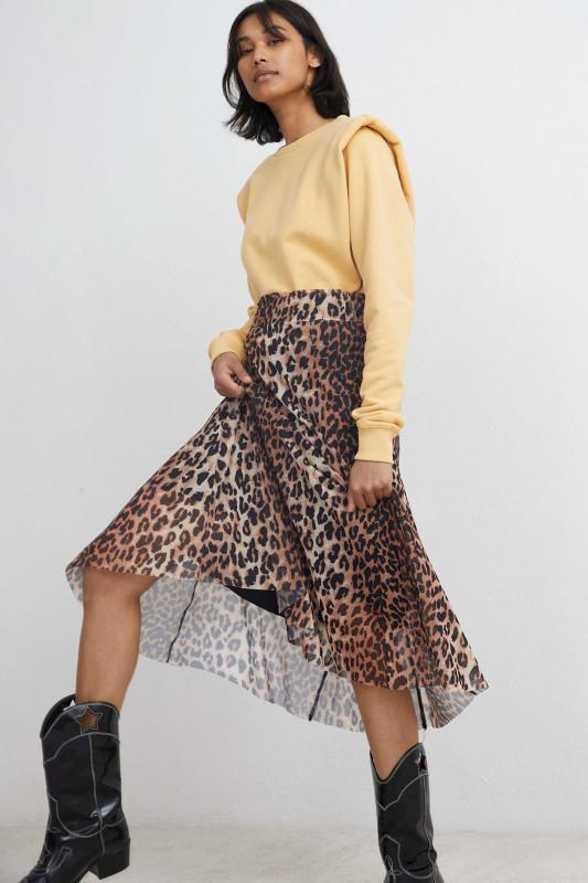 "Catwalk Junkie Damen Rock- ""SK Wild Leopard Sheer brown"""