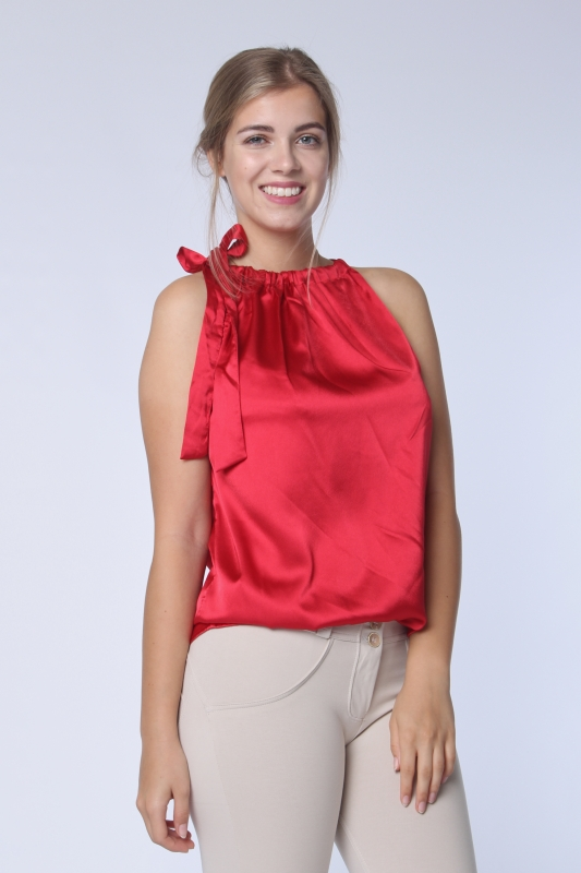 "STRANGE Damen Top - ""ROSA gloss red"""