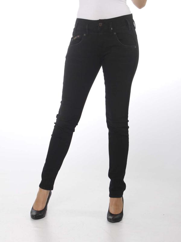 """Herrlicher Damen Jeans - """"Pearl Slim Denim blk stretch t"""""""