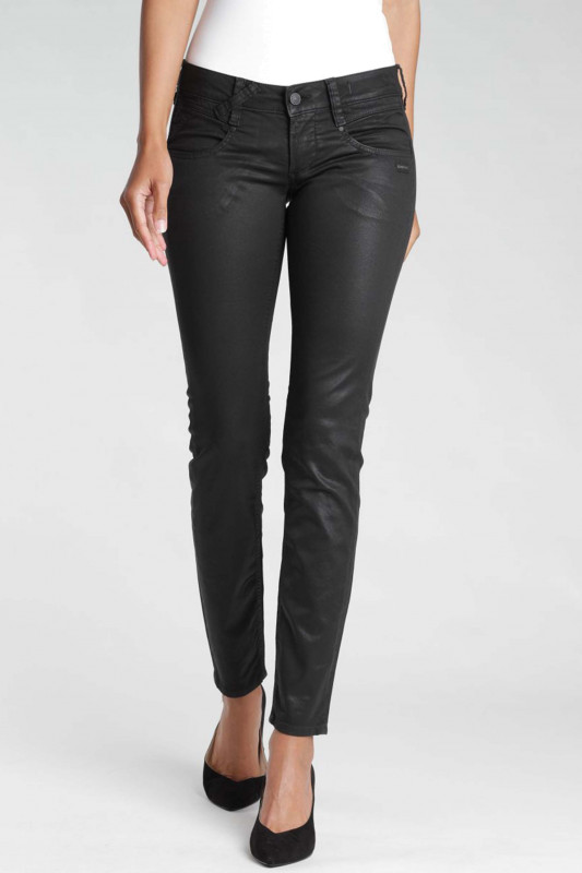 "Gang Damen Jeans - ""Nena Skinny Fit Jeans black coated"""