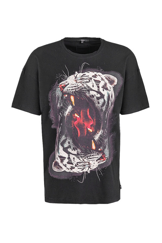 "Tigha Herren T-Shirt ""Mirrored Tiger Arne vintage black"""