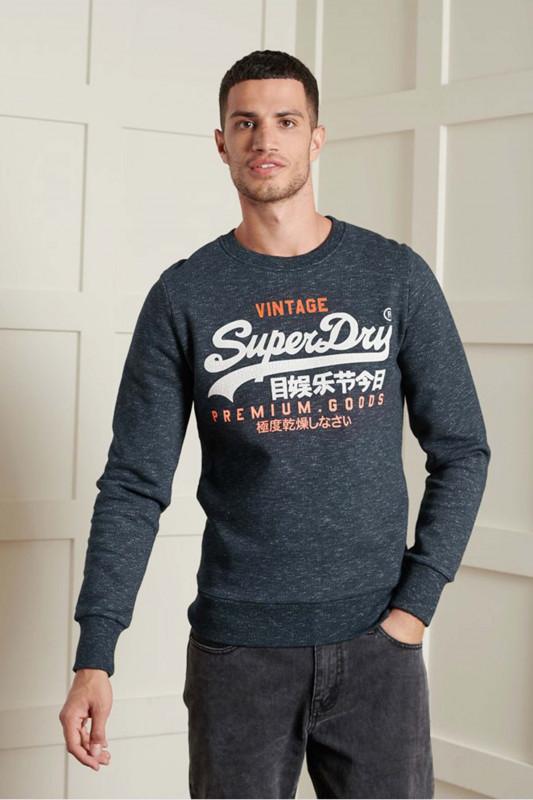 """SUPERDRY Herren Sweatshirt """"VL Tri Crew eclipse navy feeder"""""""