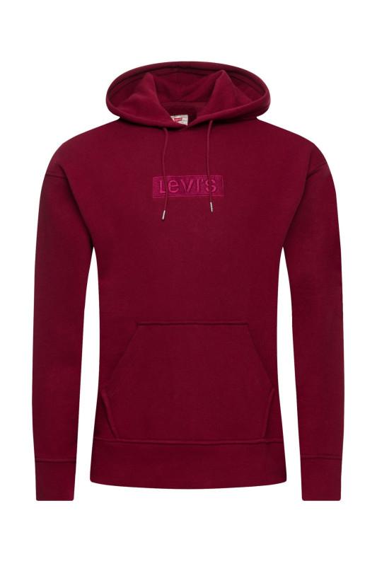 "LEVI'S Herren Sweatshirt - ""Relaxed Graphic Hood Babytab darkred"""