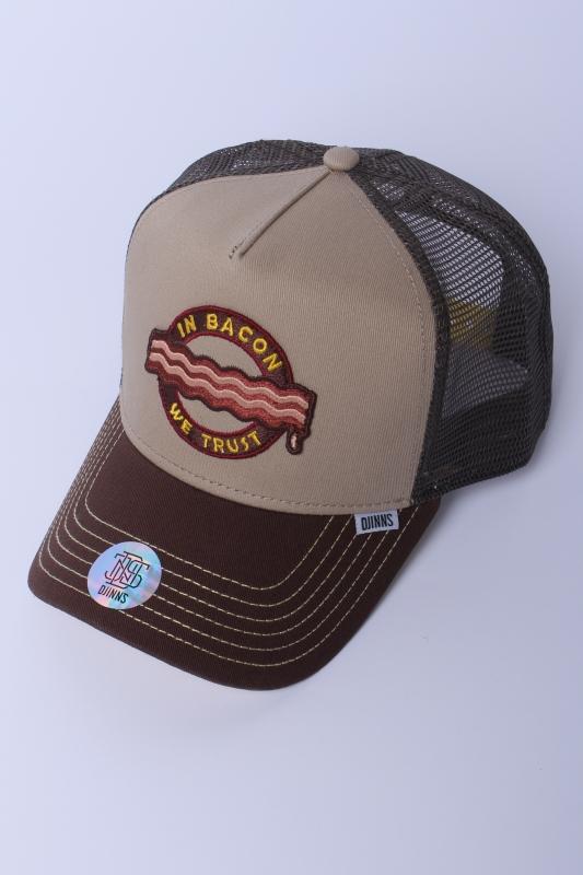 """DJINNS Herren Cap - """"HFT food bacon khaki"""""""