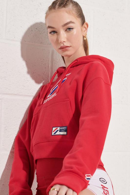 "Superdry Damen Sweatshirt ""SPORTSTYLE CLASSIC BOXY RISK RED"""