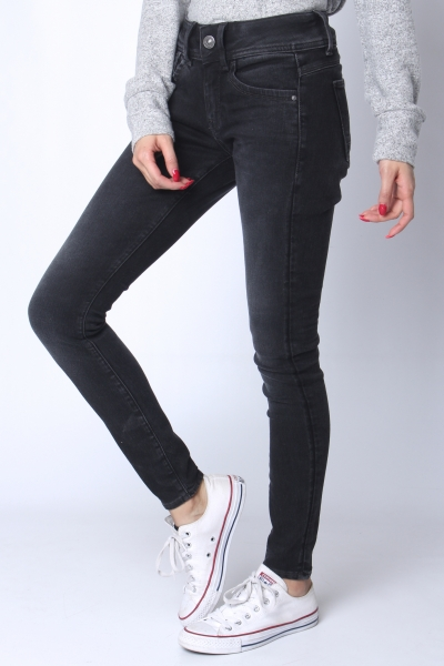 "G-STAR RAW Damen Jeans - ""Lynn Mid Skinny Elto Nero Ult. Stretch grey"""