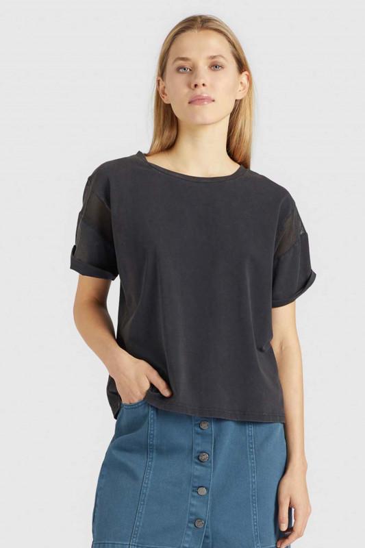 "KHUJO Damen T-Shirt - ""REAGAN jet black"""