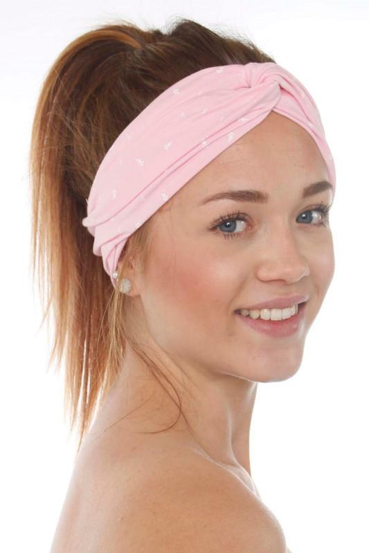 """Strange Damen Stirnband - """"Headband Summer pearl pink / white leafs"""""""