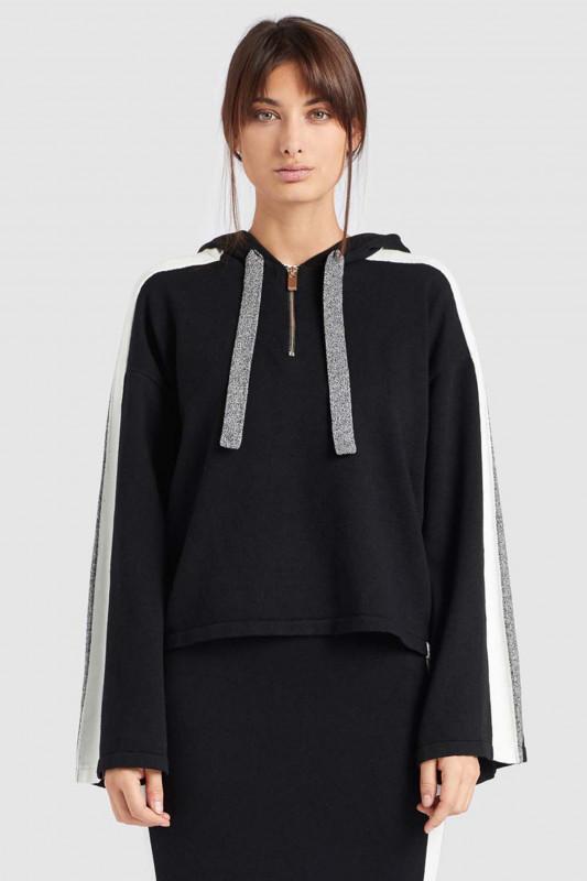 """KHUJO Damen Pullover - """"ZENGINA black / grey"""""""