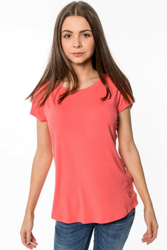 "ALIFE AND KICKIN Damen T-Shirt - ""MIMMY coral"""