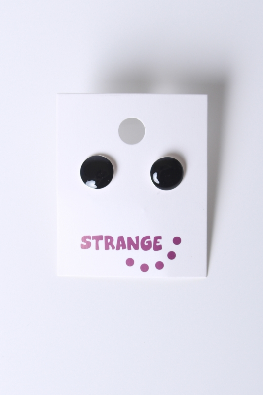"STRANGE Damen Ohrstecker - ""JANA small black"""