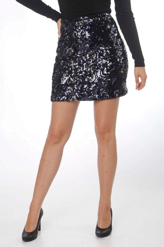 """Guess Damen Rock - """"Lina Skirt leo sequins blue"""""""