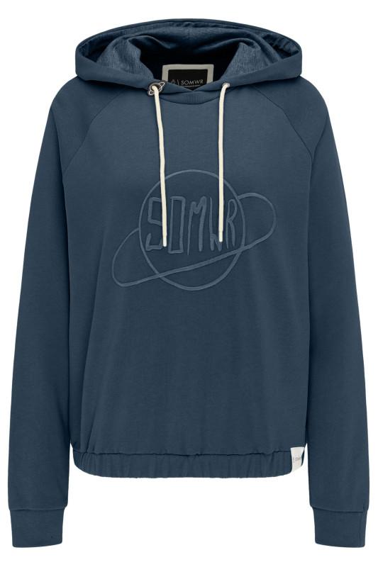 "\SOMWR Damen Sweatshirt - ""Be the Plantet navy W-HS-01"""
