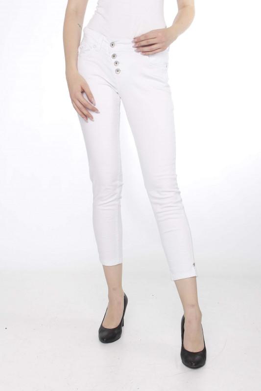 """BUENA VISTA Damen Jeans - """"MALIBU 7/8 Stretch Twill white"""""""