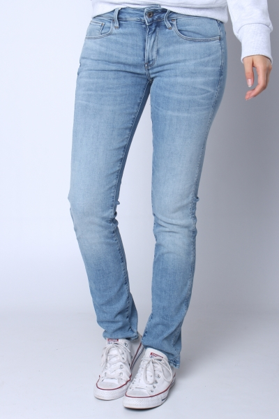 """G-STAR RAW Damen Jeans - """"3301 Deconst Mid Straight Elto Superstretch lt indigo aged"""""""