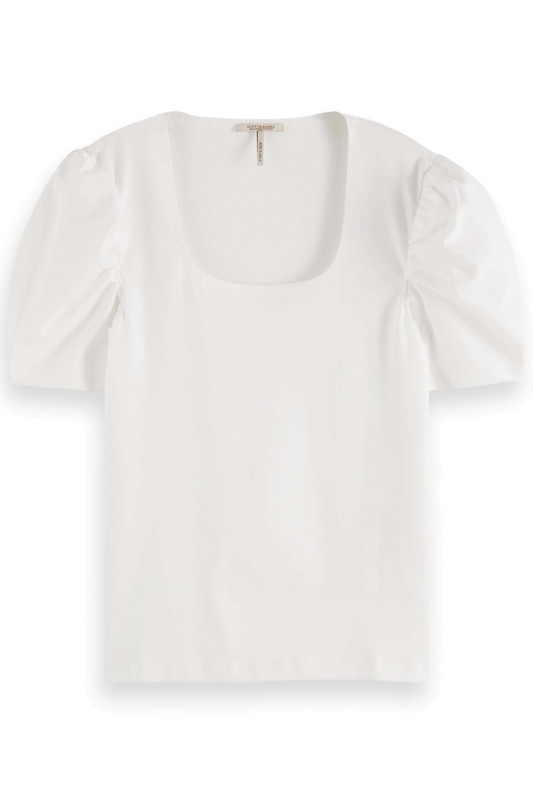 "SCOTCH & SODA Damen T-Shirt - ""Puffy short sleeve tee"""