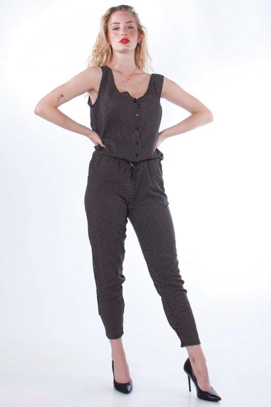 "STRANGE Damen Jumpsuit - ""Fiona black - mustard"""