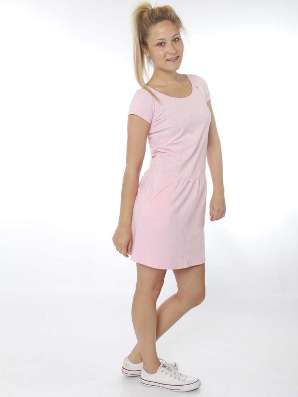 "Strange Damen Kleid - ""Tessa pearl pink/white leafs"""