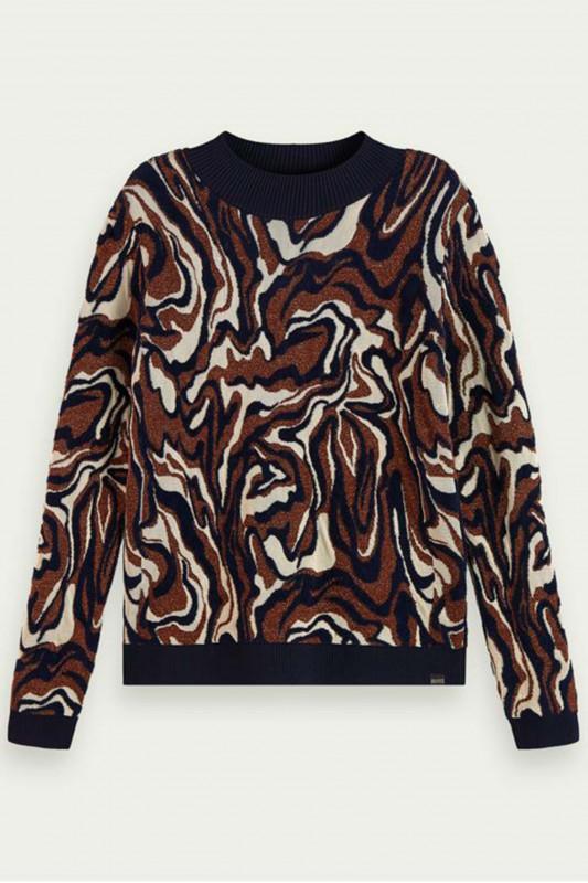 "MAISON & SCOTCH Damen Pullover - ""Marble jacquard knit"""
